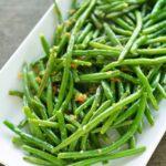 Super Simple Sides:  Crispy Garlic Onion Green Beans