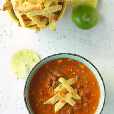 Slow Cooker Beef Enchilada Soup