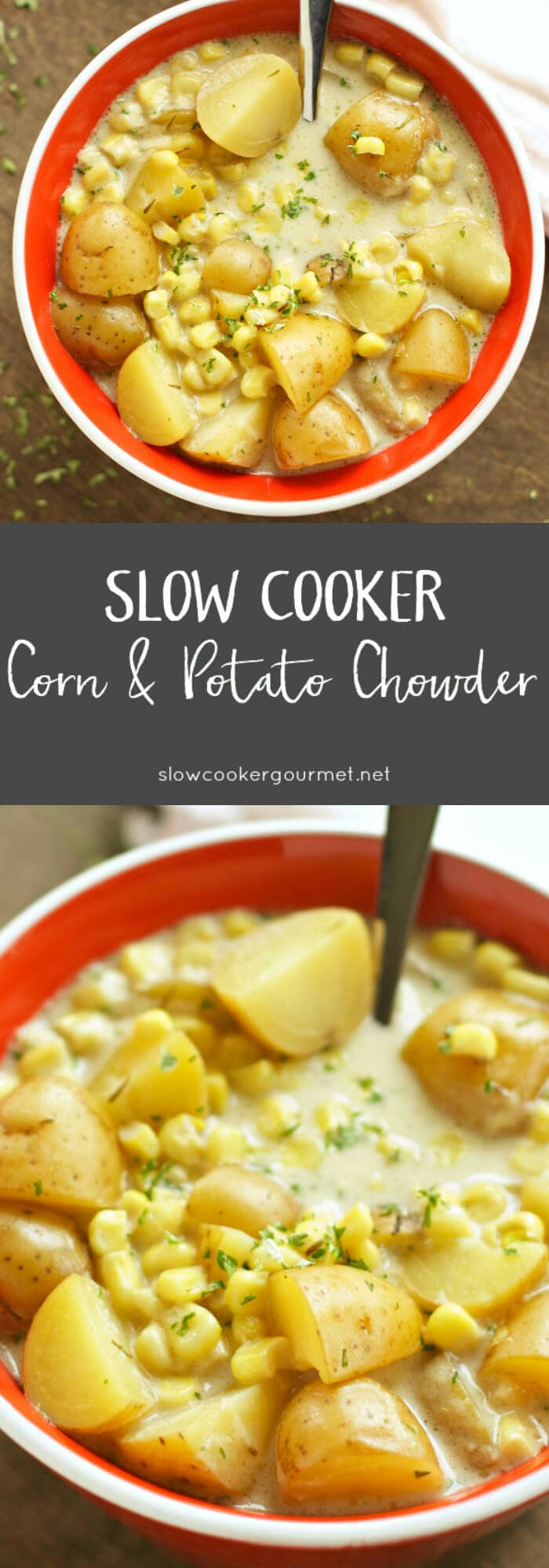 Slow Cooker Gourmet Corn and Potato Chowder