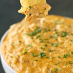 Slow Cooker Cheesy Buffalo Chicken Dip
