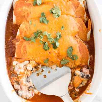 Quick Dinners in Under 30! Corn and Black Bean Enchiladas