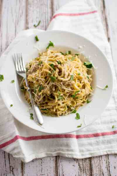 Slow Cooker Simple Chicken Spaghetti
