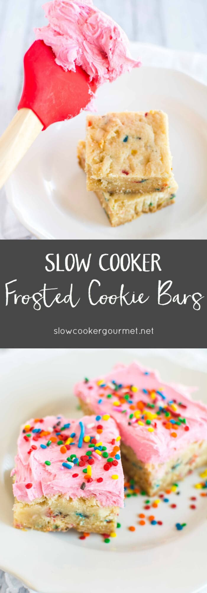 Slow Cooker Frosted Cookie Bars