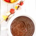 Slow Cooker Chambord Chocolate Dip