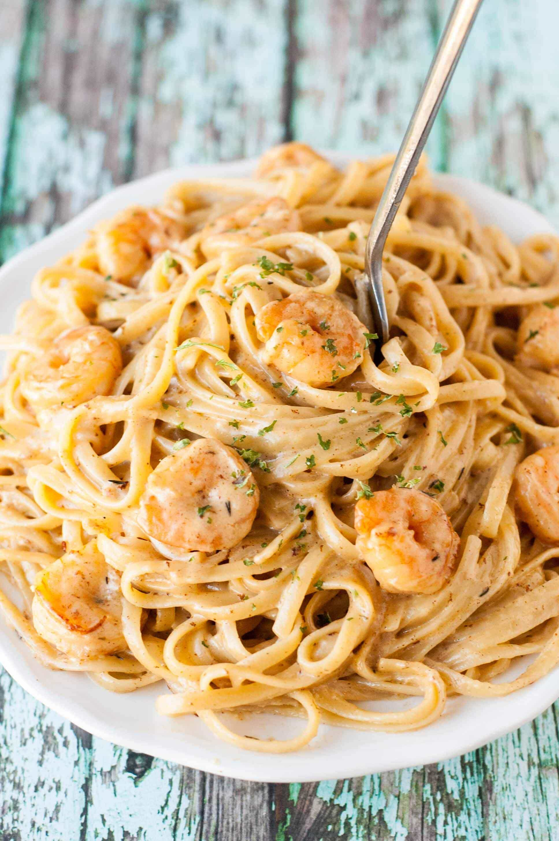 Cajun Shrimp Pasta - Slow Cooker Gourmet