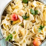 Summer Peach and Goat Cheese Pasta Salad