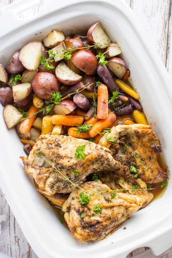 Slow Cooker Herbed Chicken and Veggies
