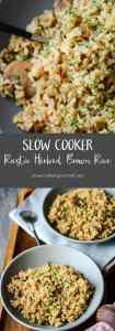 Slow Cooker Rustic Herbed Brown Rice