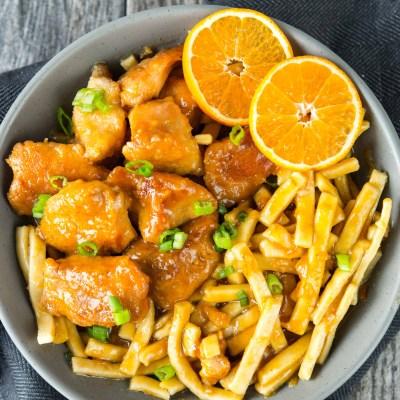 Slow Cooker Orange Sesame Chicken and Noodles