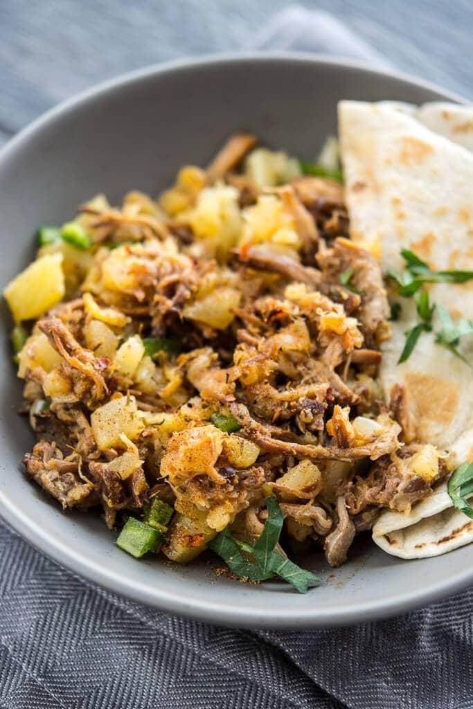 Lunch Crock Pineapple Pork Tacos