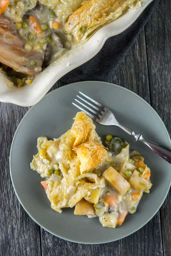 Slow Cooker Veggie Pot Pie