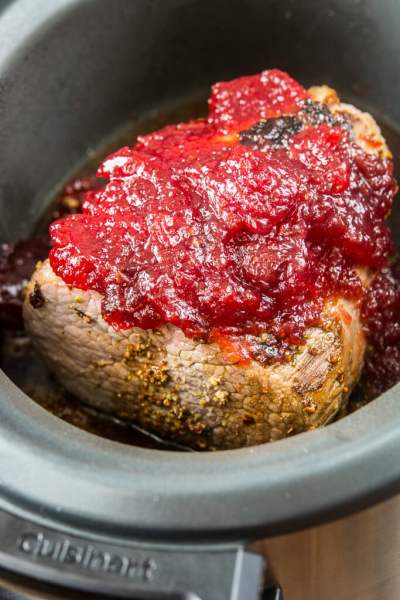 Slow Cooker Cherry Glazed Beef Roast