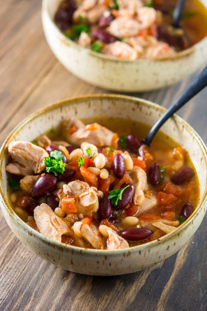 Slow Cooker Spicy Chicken Stew
