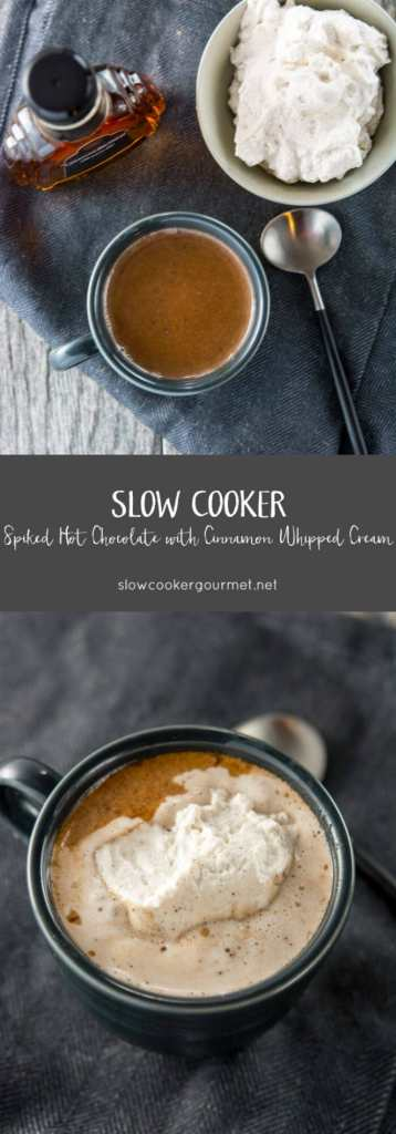 Slow Cooker Spiked Hot Chocolate
