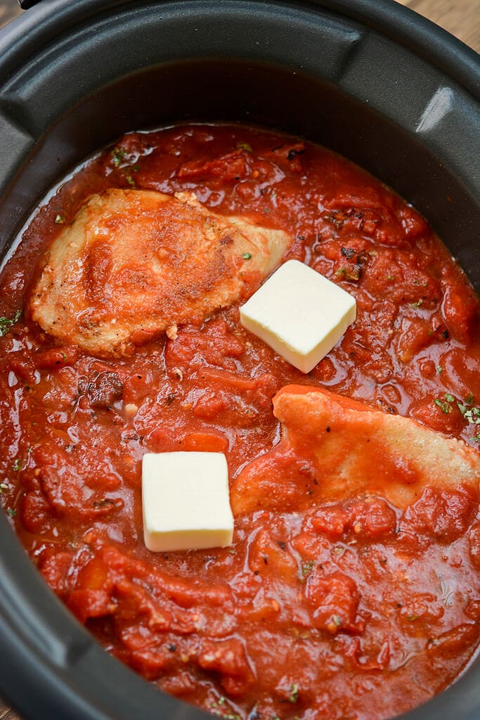 Slow Cooker Chicken in Tomato Sauce