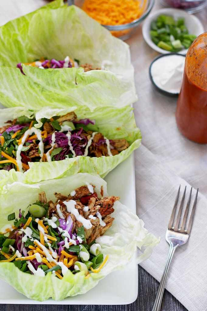 Slow Cooker Chicken Taco Wraps