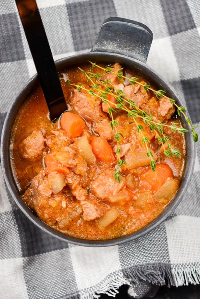 Slow Cooker Fall Harvest Pork Stew