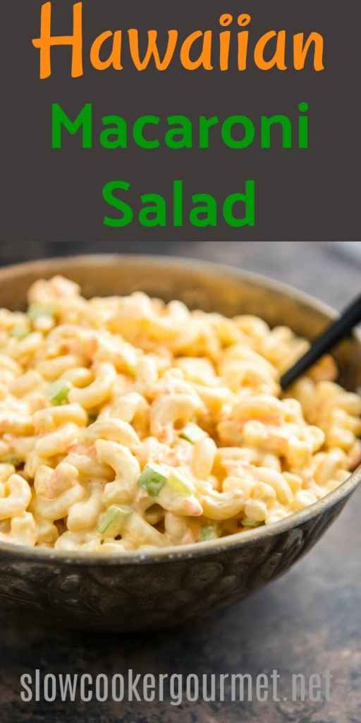 Hawaiian Macaroni Salad is a simple and basic side dish that's anything but boring. Just a few ingredients and you have a creamy simple pasta side dish for any meal.