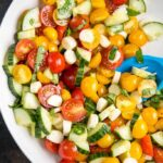Cucumber Tomato Salad with Mozzarella