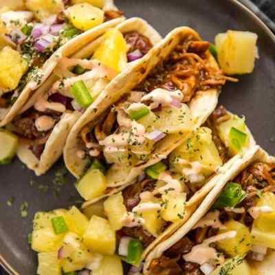 Slow Cooker Asian Pork Tacos