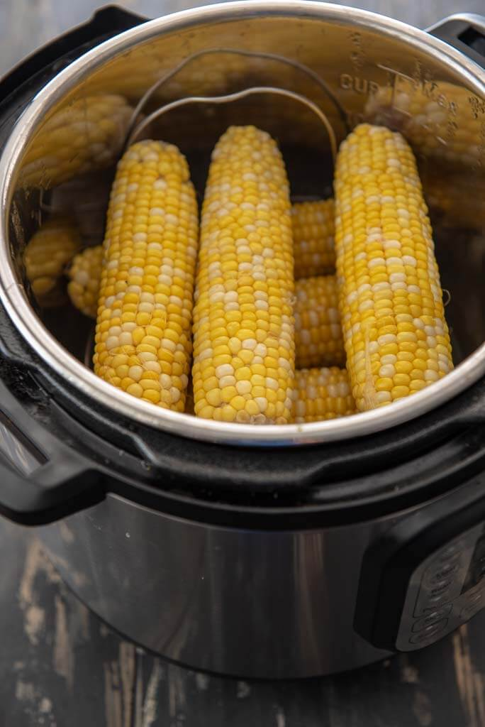 corn on the cob in an Instant Pot