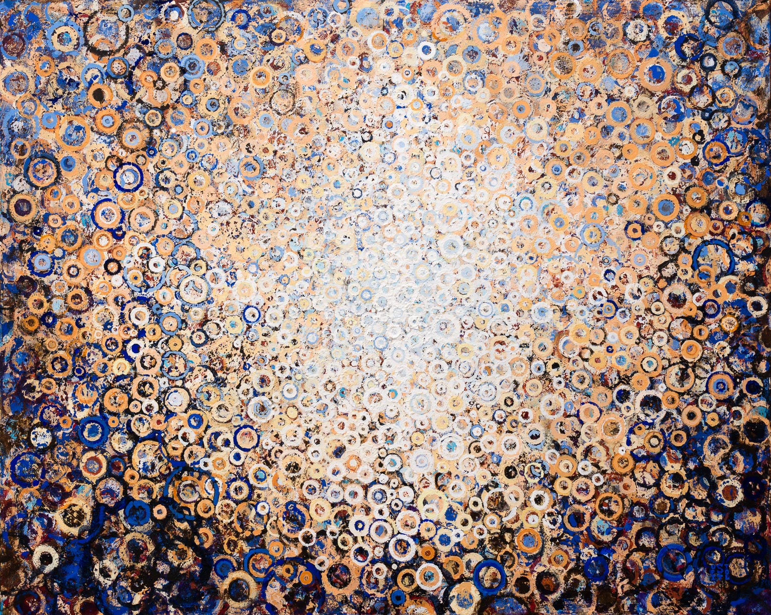 """Radian"" by Randall Stoltzfus. 2015, acrylic dispersion on synthetic canvas, 32 x 40 inches"