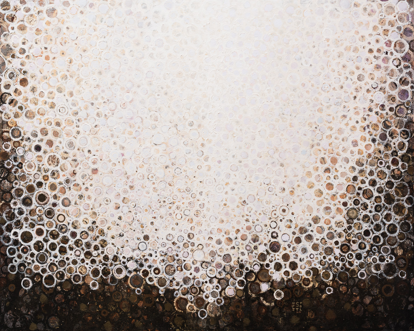 """Ardor"" by Randall Stoltzfus, 2016, Acrylic dispersion on polymer canvas, 32 by 40 inches"