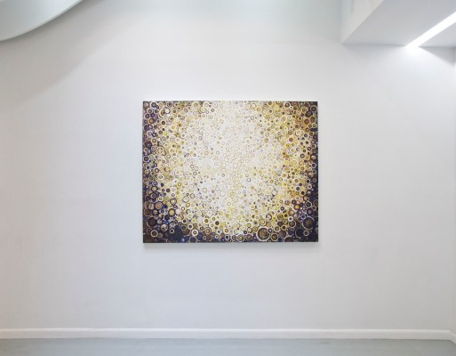 """""""Crown"""" hangs at Blank Space Gallery in New York during spring 2016 solo show"""