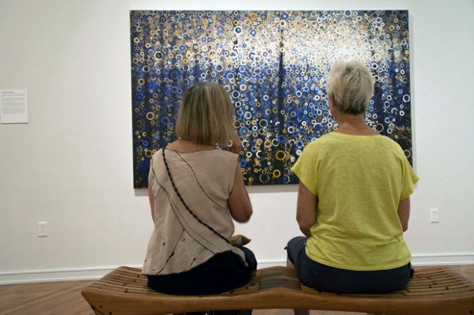 The painting Seagate on view at Chautauqua's Stroll Center