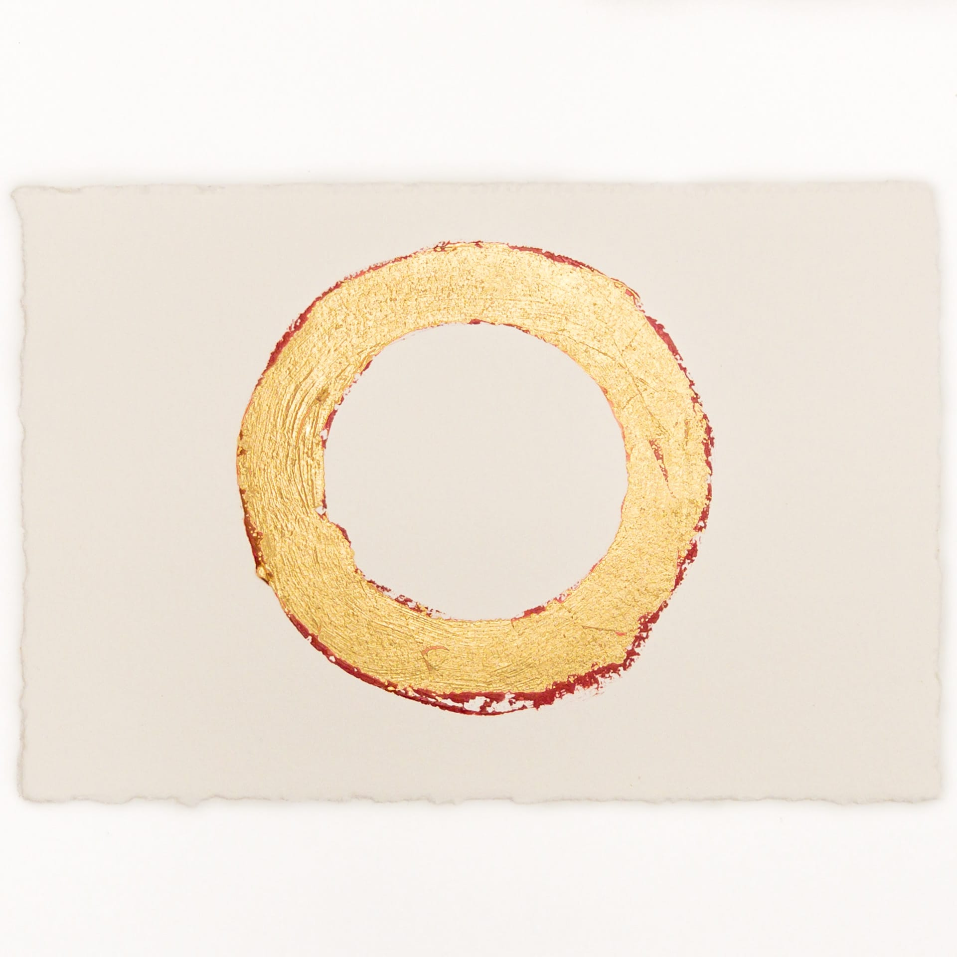 Circle 5x7 Gold over red 1 by Randall Stoltzfus