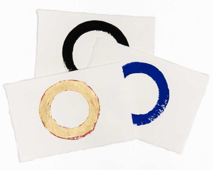 Imperfect Circles | Group of 3 hand-painted circles by Randall Stoltzfus