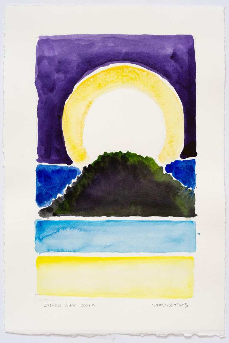 Silver Bay 2019-S6 by Randall Stoltzfus   Watercolor on paper, 11 by 7.5 inches