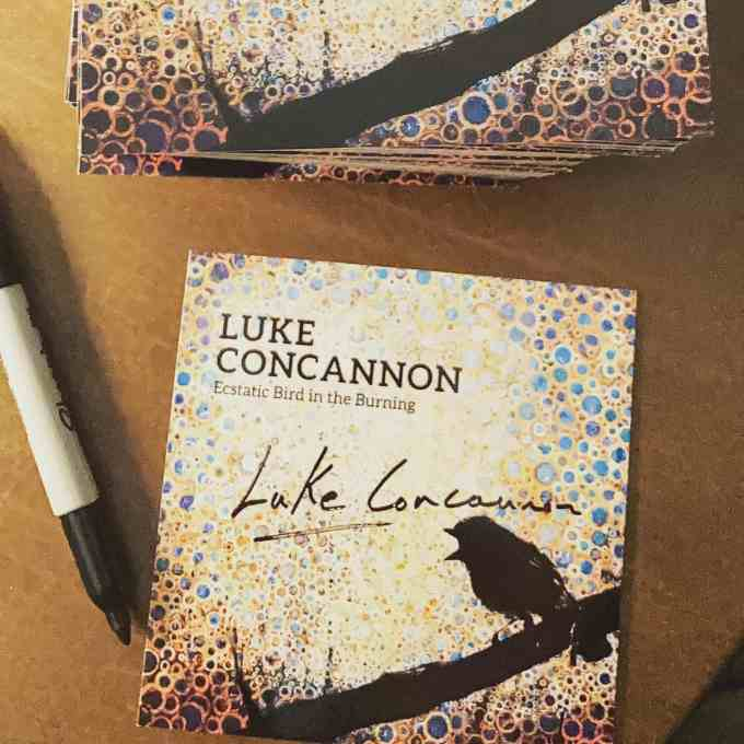 Ecstatic bird in the burning | Album by Luke Concannon | with cover art by Randall Stoltzfus