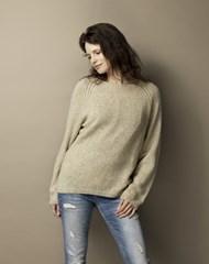 Opskrift dame sweater strikkeopskrift Tibet