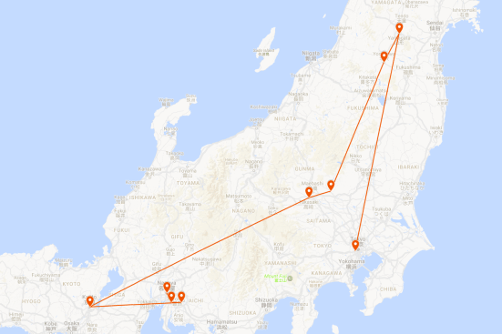 SFS TO17 JP Tour Route