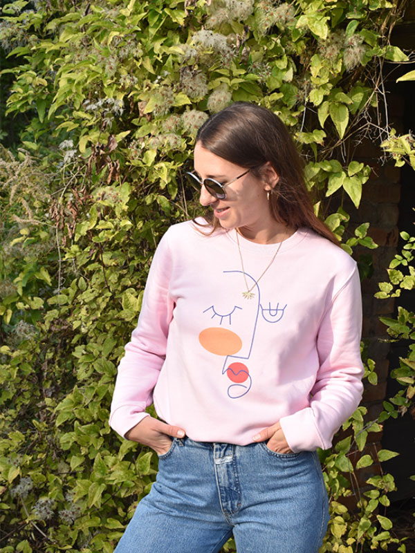 Nachhaltiger Pullover Femme Phänomenaaal-slowli