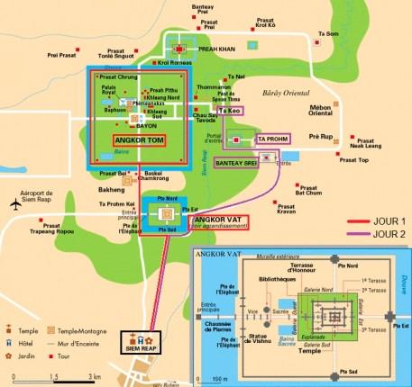 plan cité Angkor