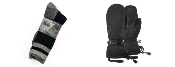 chaussettes et moufles d'hiver Canada