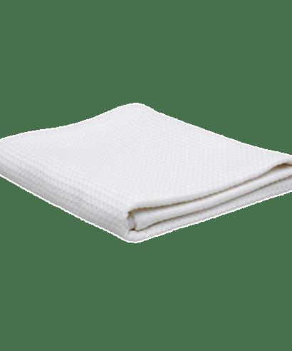 ekologisk våfflad handduk