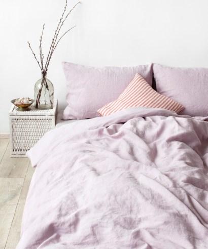 Linen tales påslakan pink lavender