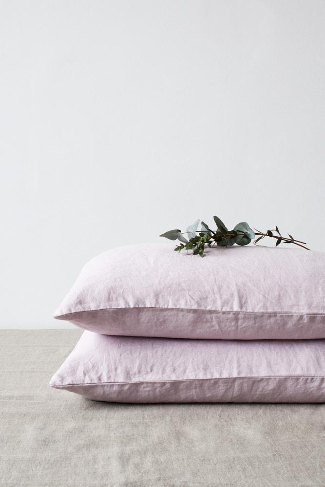 Linen tales örngott pink lavender