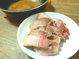 豚ランプ肉ステーキカットの低温調理