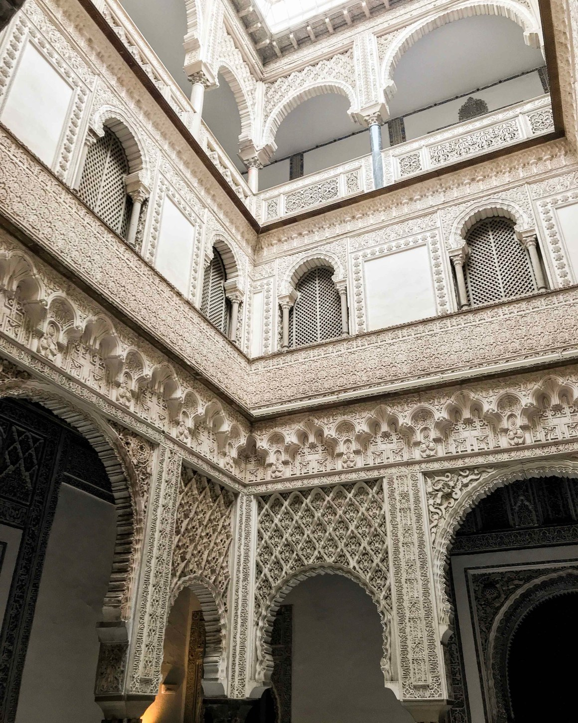moorish architecture with carved walls