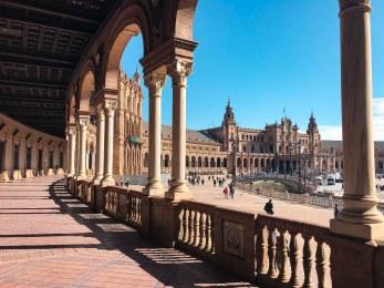 Porch wit columns in Seville