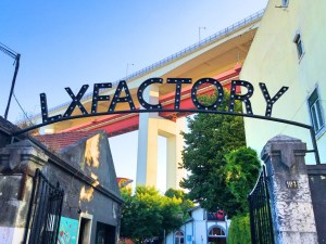 lx factory sign with light bulb