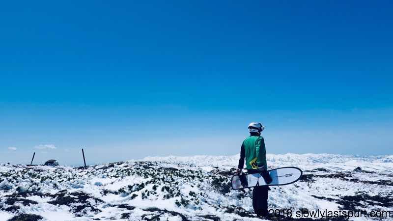 姥ヶ岳山頂 月山スキー場