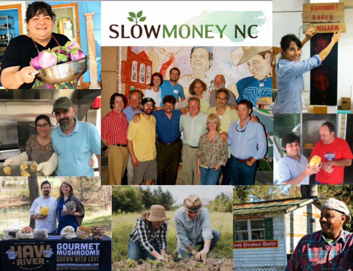 slow money nc 2018 collage
