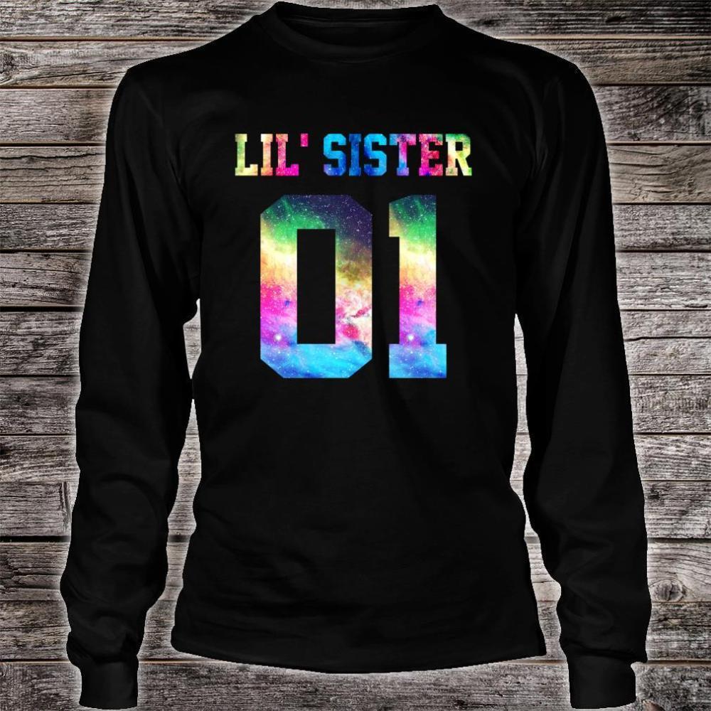 01 big sister 01 mid sister 01 lil' sister for 3 sisters Shirt long sleeved