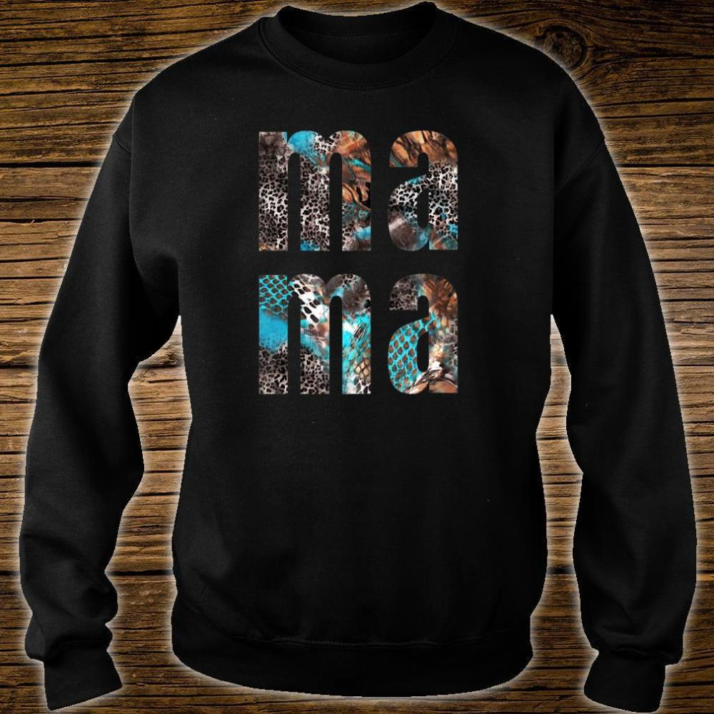 MA MA Snakeskin Letters Printed Mothers Day Shirt sweater