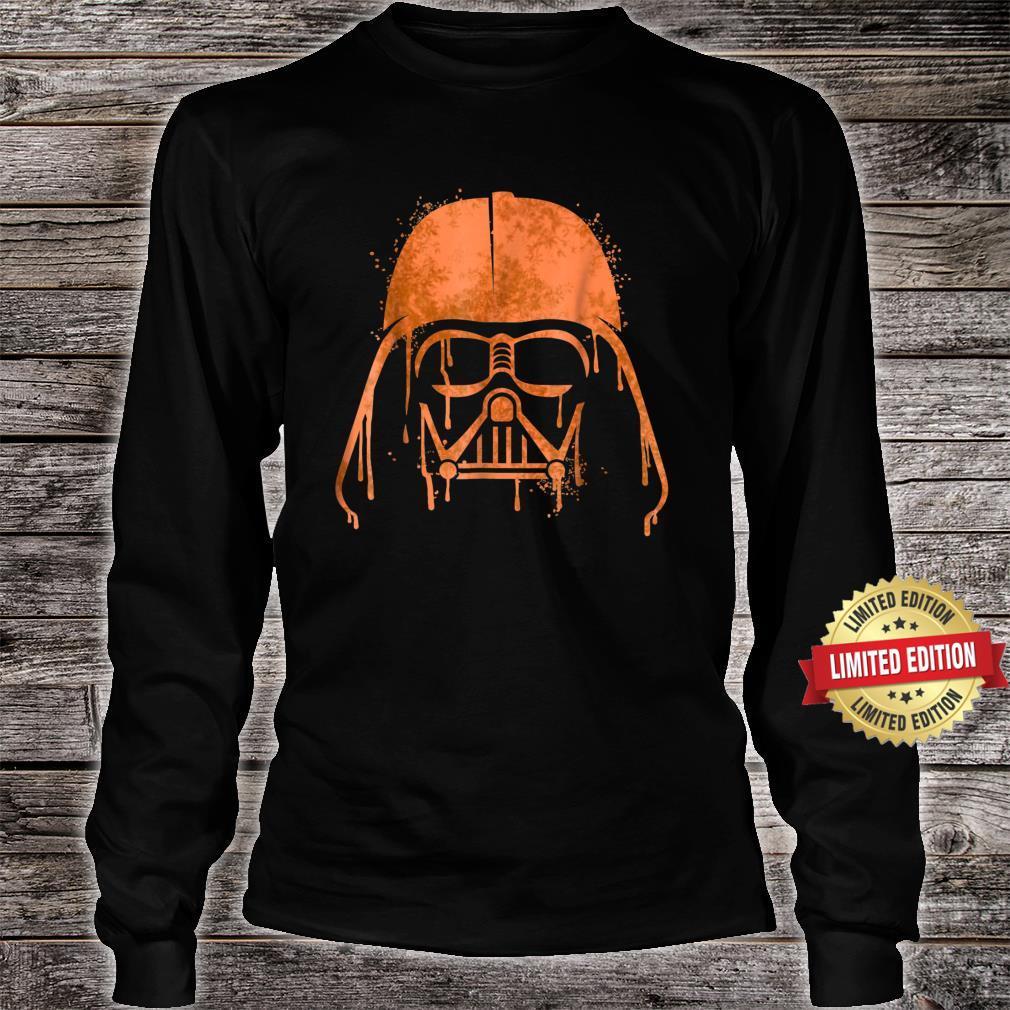 Star Wars Darth Vader Orange Helmet Drip Shirt long sleeved